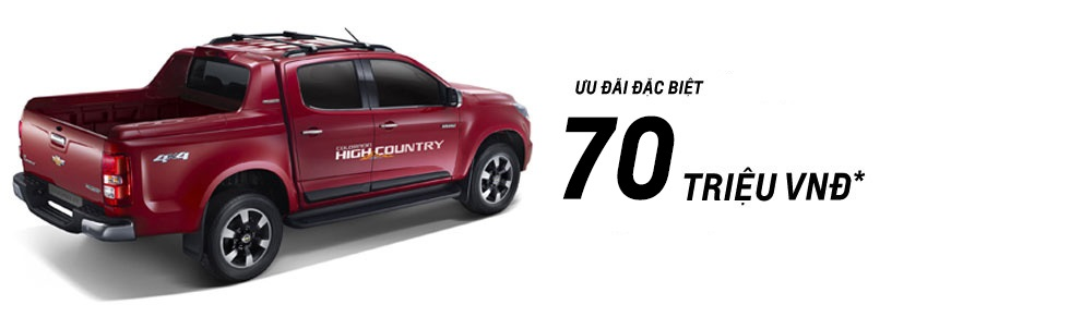 Giá xe Chevrolet Colorado High Country